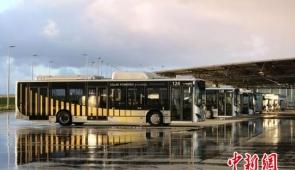 35台比亚迪纯电动大巴在荷兰机场投运
